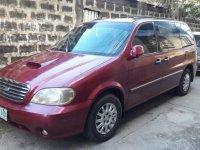 Kia Sedona 2003 Manual Red Van For Sale