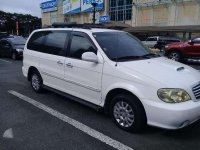 Kia Sedona Carnival White Van 2003 For Sale