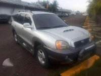Hyundai Santa Fe 2002 Manual Silver For Sale