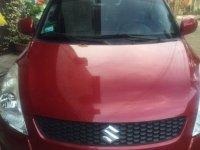 Selling Red Suzuki Swift 2012 Automatic Gasoline in San Mateo