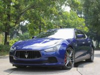 Blue Maserati Ghibli 2015 for sale in Quezon City