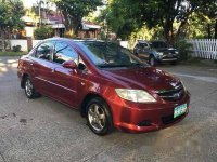 Red Honda City 2006 at 59000 km for sale