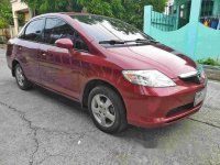 Red Honda City 2004 at 180000 km for sale