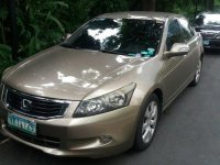 Beige Honda Accord 2008 at 114000 km for sale