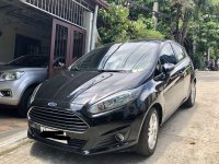 Black Ford Fiesta 2014 Hatchback for sale in Quezon City