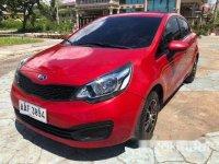 Red Kia Rio 2014 for sale in Cebu