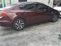Red Honda Civic 2013 for sale in Quezon City