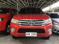 Red Toyota Hilux 2016 at 25000 km for sale