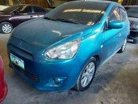 Sell Blue 2014 Mitsubishi Mirage at 64000 km