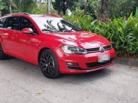 Red Volkswagen Golf 2017 at 2800 km for sale