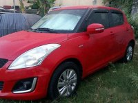 Red Suzuki Swift 2016 Automatic Gasoline for sale