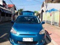 Selling Blue Mitsubishi Mirage 2014 Manual Gasoline at 66500 km