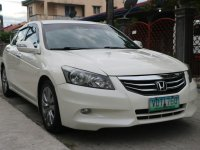 Pearl White Honda Accord 2011 for sale in Bacoor