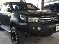 Sell Black 2016 Toyota Hilux in Quezon City