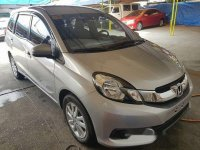Silver Honda Mobilio 2015 for sale in Automatic