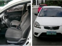 White Kia Rio 2011 for sale in Quezon City