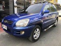 Blue Kia Sportage 2007 at 114000 km for sale