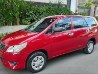 Red Toyota Innova 2015 Manual for sale