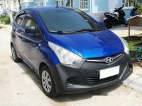 Blue Hyundai Eon 2014 Manual for sale