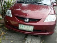 Red Honda City 2004 Automatic for sale