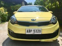 Yellow Kia Rio 2015 Manual for sale