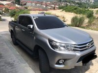 Selling Silver Toyota Hilux 2016 Truck at 18300 km