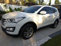 Sell White 2013 Hyundai Santa Fe in Quezon City