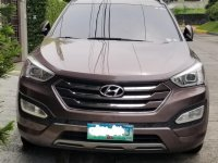 Purple Hyundai Santa Fe 2013 for sale in Automatic