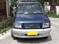 Blue Mitsubishi Adventure 1998 SUV / MPV at Manual  for sale in Manila