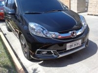 Black Honda Mobilio 2015 SUV / MPV at Automatic  for sale in Calamba