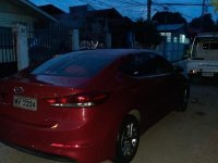 Red Hyundai Elantra 2018 for sale in Davao