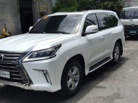 White Lexus Lx 570 2017 for sale in Manila
