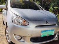 Silver Mitsubishi Mirage 2013 for sale in Manual