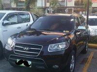 Black Hyundai Santa Fe 2009 for sale in Quezon City