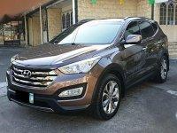 Grey Hyundai Santa Fe 2013 for sale in Automatic