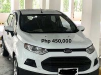White Ford Ecosport 2015 for sale in Manual
