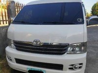 White Toyota Hiace 2008 Van for sale