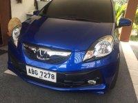 Blue Honda Brio 2015 for sale in Pasig