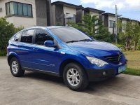 Blue Ssangyong Actyon 2008 for sale in Manila