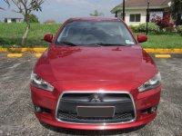 Red Mitsubishi Lancer 2014 for sale in Davao