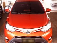 Orange Toyota Vios 2016 Sedan at Automatic  for sale in Manila