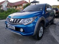 Sell Blue 2015 Mitsubishi Strada Truck at 31000 in Manila