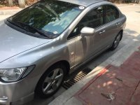 Silver Honda Civic 2008 at 84950 km for sale in Quezon City