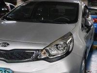 Silver Kia Rio 2013 for sale in Manila
