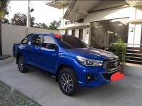Blue Toyota Hilux 2009 for sale in Quezon City