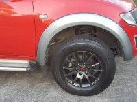 Red Mitsubishi Strada 2015 for sale in Quezon City