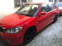 Red Honda Civic 2005 Hatchback at 90000 km for sale