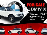 Silver BMW X3 2005 for sale in Davao