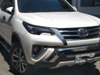 Pearl White Toyota Fortuner 2016 for sale in Valenzuela