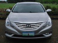 Silver Hyundai Sonata 2012 for sale in Davao City